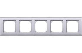 Рамка 5-ая (пятерная), Schneider Electric, Серия MERTEN, Алюминий