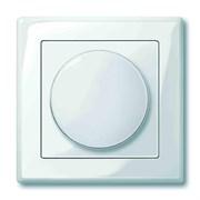 Диммер поворотно-нажимной , 600Вт для л/н и эл.трансф., Merten, Белый