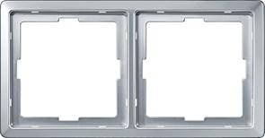 Рамка 2-ая (двойная), Schneider Electric, Серия MERTEN, Алюминий