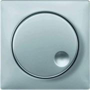 Диммер поворотно-нажимной , 600Вт для ламп накаливания, Merten, Серия Artec, Алюминий