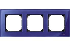 Рамка 3-ая (тройная), Schneider Electric, Серия MERTEN, Стекло Сапфир