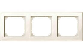 Рамка 3-ая (тройная), Schneider Electric, Серия MERTEN, Бежевый