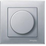 Диммер нажимной (кнопочный) 300Вт для л/н и эл.трансф., Merten, Алюминий