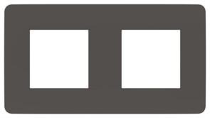 Рамка 2-ая (двойная), Schneider Electric, Серия Unica Studio, Дымчато-серый/Белый