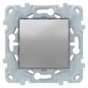 Выключатель 1-клавишный, Schneider Electric, Серия Unica New, Алюминий