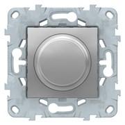 Диммер поворотно-нажимной , 200Вт LED универсальны, Schneider Electric, Серия Unica New, Алюминий