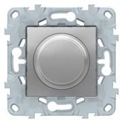 Диммер поворотно-нажимной , 400Вт для л/н и эл.трансф., Schneider Electric, Серия Unica New, Алюминий