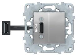 Розетка HDMI, Schneider Electric, Серия Unica New, Алюминий