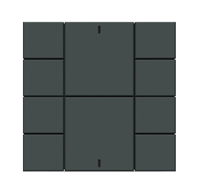 Iswitch 8 button Anthracite Matt plastic