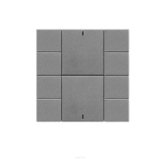 Iswitch 10 button  metalic gray plastic