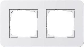 Gira серия E3 Белый глянцевый Рамка 2-ая 0212410