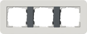 Gira серия E3 Светло-серый/антрацит Рамка 3-ая 0213421