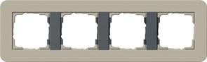 Gira серия E3 Серо-беж./антрацит Рамка 4-ая 0214428