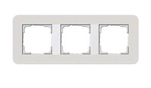 Gira серия E3 Светло-серый/белый глянцевый Рамка 3-ая 0213411