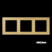 Jung LS Zero Латунь Рамка 3-ая LSZME983BFC