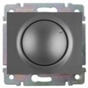 Светорегулятор поворотный 400 Вт. Цвет Тёмная бронза. Legrand Galea Life (Легранд Галея Лайф). 775654+771268