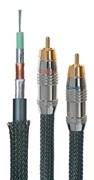 Межблочный аудио кабель с посеребренными жилами и тканевой оплеткой 2RCA - 2RCA DAXX R93-07 (0,75 метра)