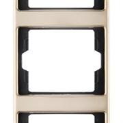 Рамка 3-поста вертикальная, Berker Arsys copper Med цвет: медь 13330007