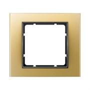 Рамкa 1-пост, Berker B.3, Материал: алюминий цвет: золотой/антрацитовый 10113016