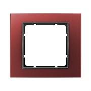 Рамкa 1-пост, Berker B.3, Материал: алюминий цвет: красный/антрацитовый 10113012