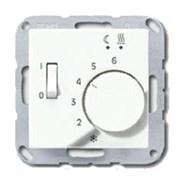 Термостат 230 В~ 10А с выносным датчиком для эл. подогрева пола мех. Eberle, белый глянц., FRE52522+AFTR231PLWW