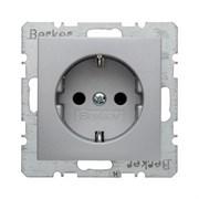 Штепсельная розетка SCHUKO, Berker B.7 Glas цвет: алюминий, матовый 47231404
