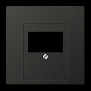 JUNG LS 990 Антрацит Накладка розетки ТАЕ, моно/стерео-аудиорозетки, комбинированной вставки AL2969TAN