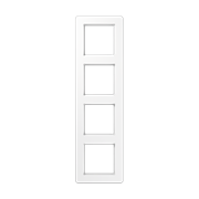 Jung A Flow - Рамка 4-ая, цвет белый AF584BFWW