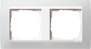 Рамка 2-пост для центральных вставок белого цвета, Gira Event Белый