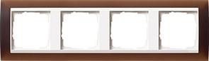 Рамка 4-пост для центральных вставок белого цвета, Gira Event Темно-коричневый