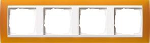 Рамка 4-пост для центральных вставок белого цвета, Gira Event Янтарный