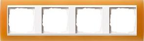 Рамка 4-пост для центральных вставок белого цвета, Gira Event Оранжевый