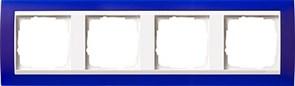 Рамка 4-пост для центральных вставок белого цвета, Gira Event Синий