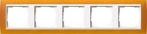 Рамка 5-пост для центральных вставок белого цвета, Gira Event Янтарный