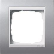 Рамка 1-пост для центральных вставок белого цвета, Gira Event Алюминий