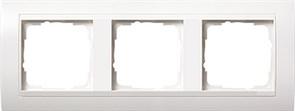 Рамка 3-поста для центральных вставок белого цвета, Gira Event Белый