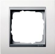 """Рамка 1-пост для центральных вставок """"алюминий"""", Gira Event Белый"""