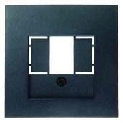 Розетка USB двойная, для зарядка, 1,4 А, вставка белая 260009 + 10331606