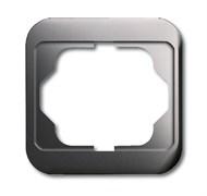 Рамка 1-пост, ABB alpha цвет Белый платина
