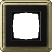 Рамка Gira ClassiX одноместная Бронза-Чёрный 0211622