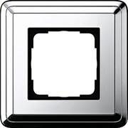 Рамка Gira ClassiX одноместная Хром 0211641