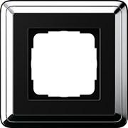 Рамка Gira ClassiX одноместная Хром-Чёрный 0211642