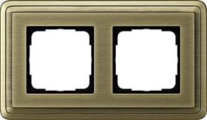 Рамка Gira ClassiX двухместная Бронза 0212621