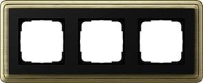 Рамка Gira ClassiX трехместная Бронза-Чёрный 0213622