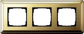 Рамка Gira ClassiX трехместная Латунь 0213631