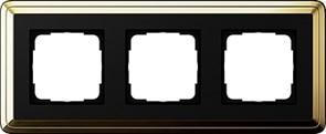 Рамка Gira ClassiX трехместная Латунь-Чёрный 0213632