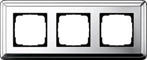 Рамка Gira ClassiX трехместная Хром 0213641