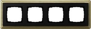 Рамка Gira ClassiX четырехместная Бронза-Чёрный 0214622