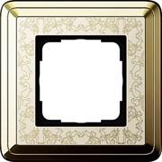 Рамка Gira ClassiX Art одноместная Латунь-кремовый 0211673