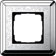 Рамка Gira ClassiX Art одноместная Хром 0211681
